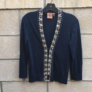 Tory Burch jeweled cardigan
